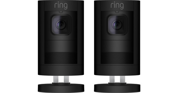 Ring Stick Up Cam Black Duo Pack