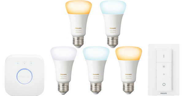 Philips Hue White Ambiance Starter Pack met Dimmer + E27 Duo