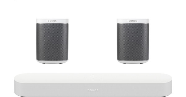 Sonos Beam 5.0 + Play: 1 (x2) White