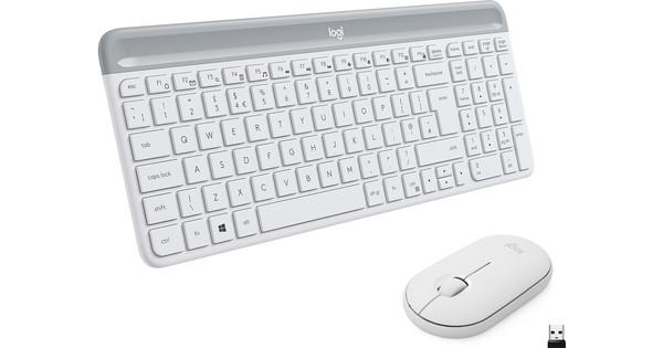 Logitech MK470 Slim Draadloos Toetsenbord en Muis Wit QWERTY
