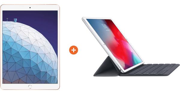 Apple iPad Air (2019) 256 GB Wifi Goud + Smart Keyboard
