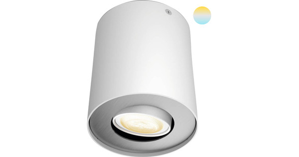 Philips Hue Pillar Mounted Spot White Ambiance 1 Light White + Dimmer