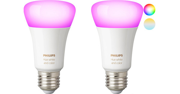 Philips Hue White and Color E27 Duo Pack