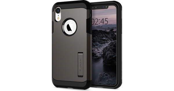 Spigen Tough Armor iPhone Xr Back Cover Gray
