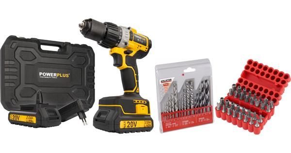Powerplus POWX00450 + Drill Set 16-piece and Bit Set 33-piece