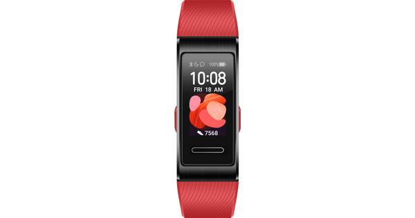 Huawei Band 4 Pro Zwart/Rood