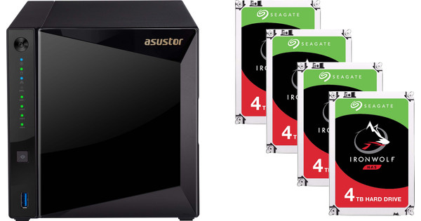 Asustor AS4004T + Seagate Ironwolf ST4000VN008 4 TB Quad Pack