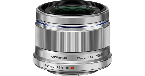 Olympus M.Zuiko Digital ED 25mm f/1.8 zilver