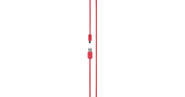 Xqisit Cotton Cable Micro USB 2.0 1.8m Red