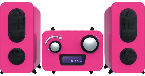 Bigben Microset Radio/CD Player Pink