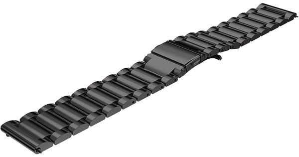 Just in Case Samsung Rvs Bandje Zwart 22mm