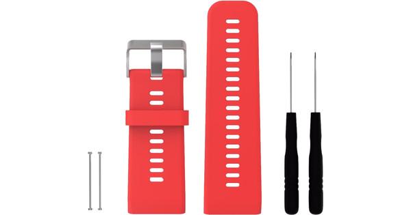 Just in Case Silicone Sportband Garmin Vivoactive HR Red