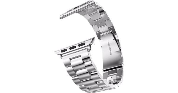 Just in Case Apple Watch 38/40mm Roestvrijstalen Bandje Zilver