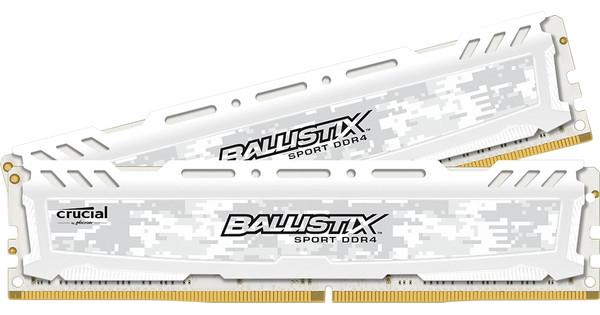 Crucial Ballistix 16GB DDR4 DIMM 2666 MHz Wit (2x8GB)