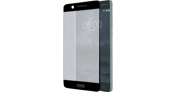 Azuri Edge to Edge Nokia 5 Screenprotector Glas Zwart