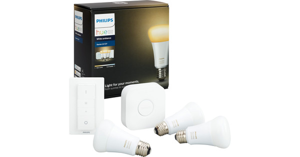 Philips Hue White Ambiance Starter Pack met Dimmer