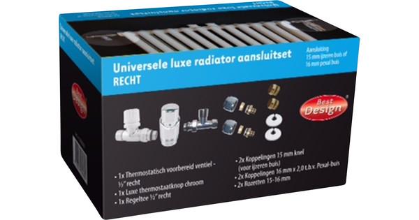 Best Design Universal Luxury Radiator Connection Set Straight