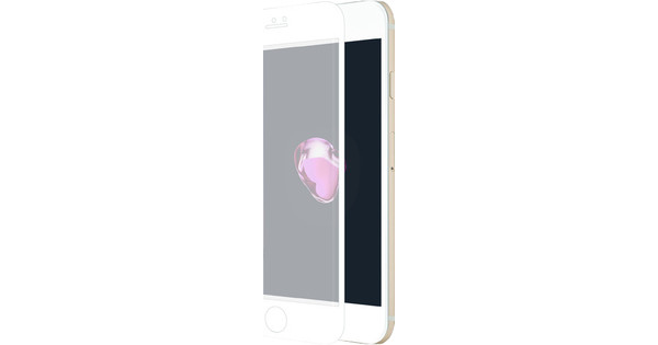 Azuri Apple iPhone 7 Screenprotector Curved Gehard Glas Duo Pack Wit