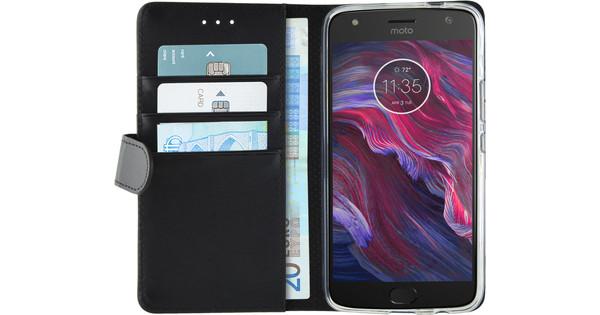 Azuri Wallet Magnetic Motorola Moto X4 Book Case Black