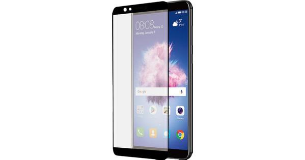 Azuri Curved Gehard Glas Huawei P Smart Screenprotector Glas Zwart