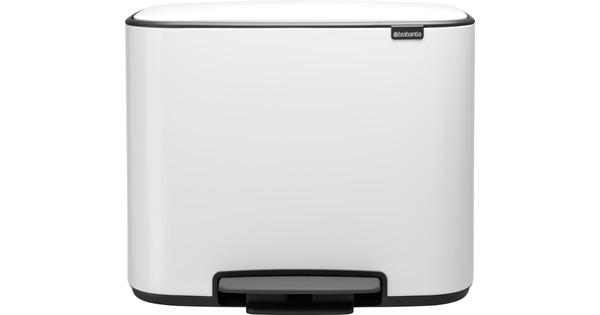 Brabantia Bo Pedal Bin 3 x 11 Liter White