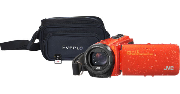 JVC GZ-R495DEU Orange + Memory Card + Bag