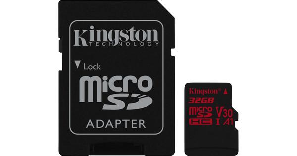 Kingston microSDHC Canvas React 32GB 100 MB/s + SD Adapter