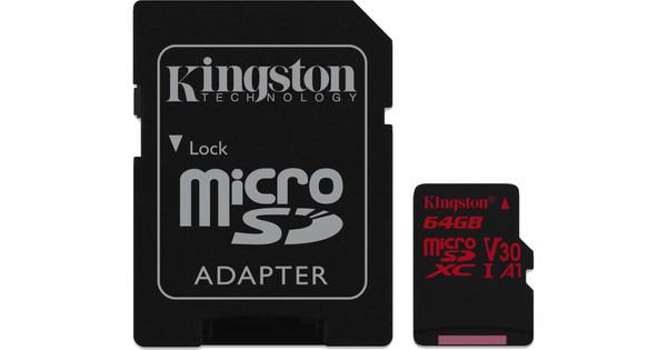 Kingston microSDXC Canvas React 64GB 100MB / s + SD Adapter