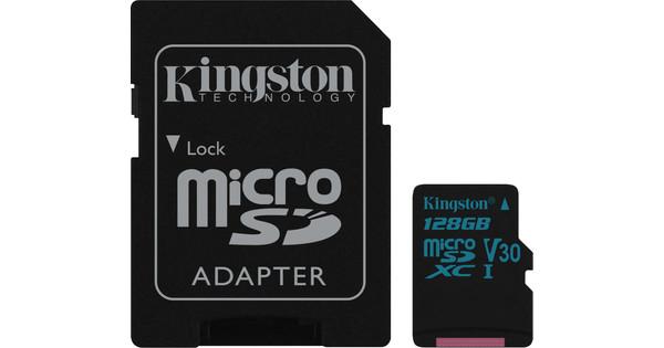 Kingston microSDXC Canvas Go! 128GB 90MB/s + SD Adapter