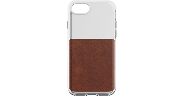 Nomad Clear Apple iPhone 7/8 Back Cover Brown
