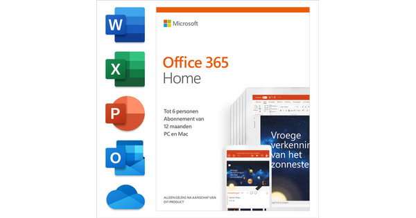 Microsoft Office 365 Home 1-year Subscription NL