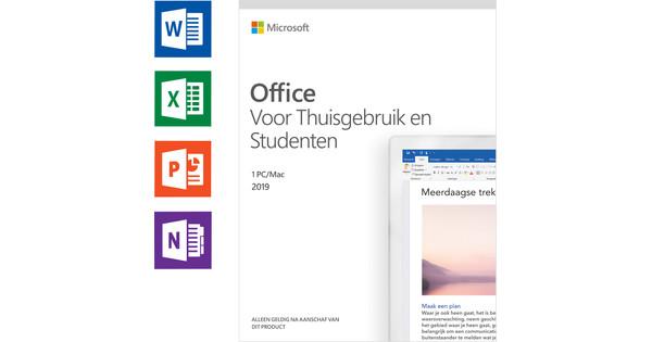 Microsoft Office 2019 Thuisgebruik en Studenten EN