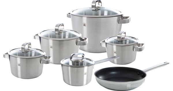 BK Conical Glass Cookware Set 5-piece + frying pan 24cm