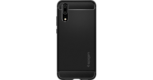 Spigen Rugged Amor Huawei P20 Back Cover Zwart