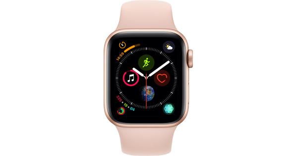Apple Watch Series 4 40mm Goud Aluminium/Roze Sportband