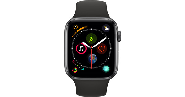 Apple Watch Series 4 44mm Space Gray Aluminum/Black Sport Band