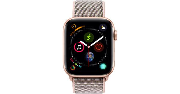 Apple Watch Series 4 44mm Gold Aluminum/Pink Sand Nylon Sport Band