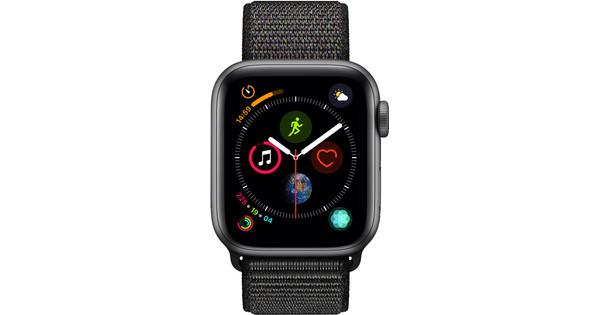 Apple Watch Series 4 40mm Space Gray Aluminum/Black Nylon Sport Band