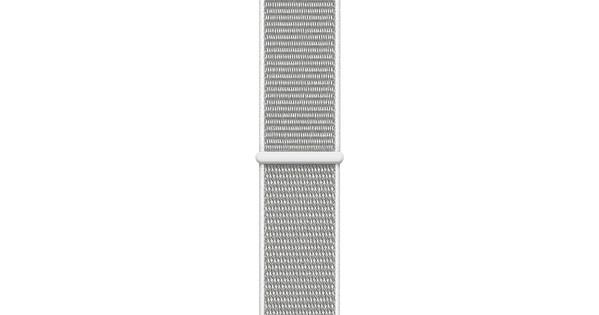 Apple Watch 40mm Nylon Sport Loop Horlogeband Schelpenwit