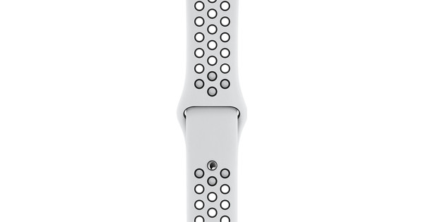 Apple Watch 44mm Siliconen Horlogeband Nike Sport Platina