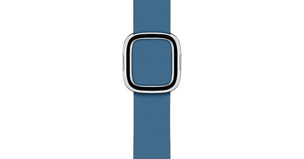 Apple Watch 38/40mm Modern Leather Watch Strap Cape Cod Blue - Small