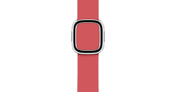 Apple Watch 38/40mm Modern Leather Watch Strap Peony Pink - Small