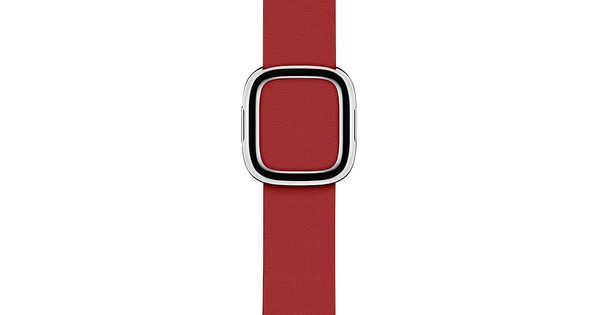 Apple Watch 38/40mm Modern Leather Watch Strap RED - Small