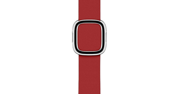 Apple Watch 38/40mm Modern Leather Watch Strap RED - Medium
