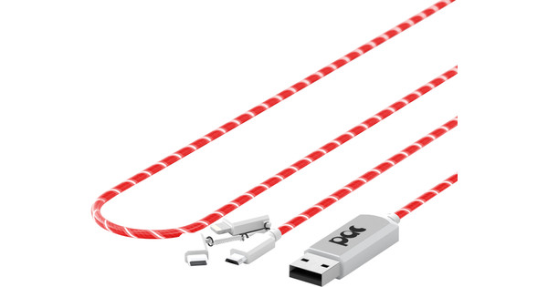 Pac El Light Flowing 3-in-1 Kabel 1m Red