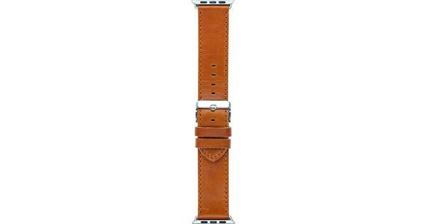 Dbamante1928 Copenhagen Apple Watch 42/44mm Leather Strap Dark Brown/Silver