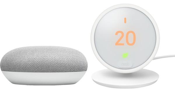 Google Nest Thermostat E + Google Home Mini Wit
