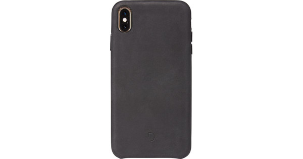 Decoded Leather iPhone Xs Max Back Cover Zwart