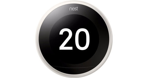 Google Nest Learning Thermostat V3 Premium White with installation