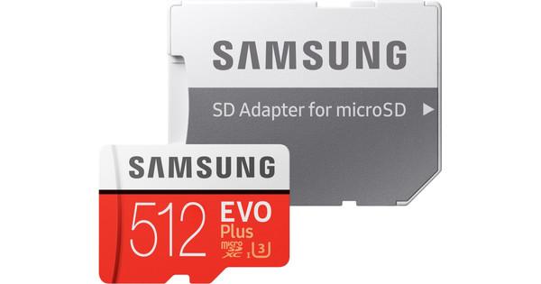 Samsung microSDXC EVO+ 512GB 100MB/s CL 10 + SD Adapter